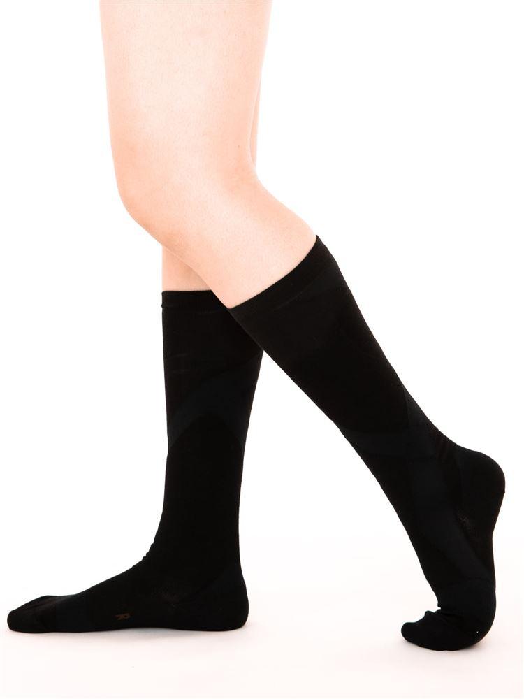 [健康と美研究所]脚シェイプハイソックス【抗菌防臭・DRY】
