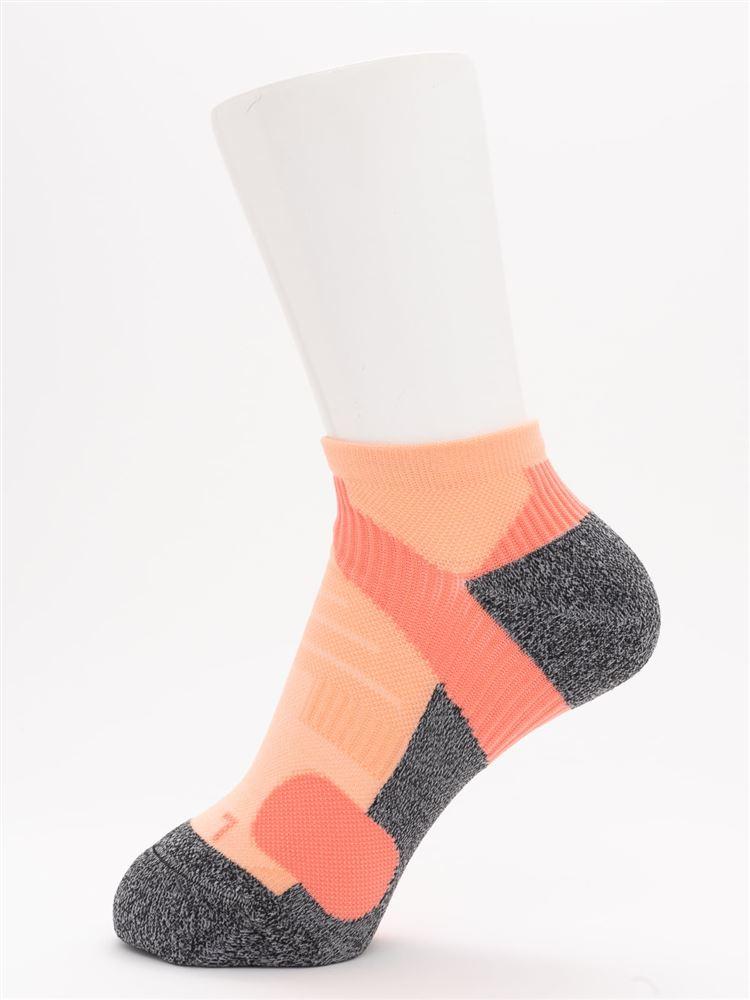 [スポーツ]パイル切替母趾小趾補強くるぶしソックス