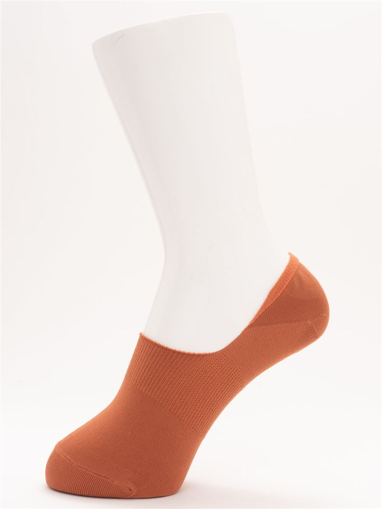 [ストレス0靴下]COOLMAX無地超深履きカバーソックス