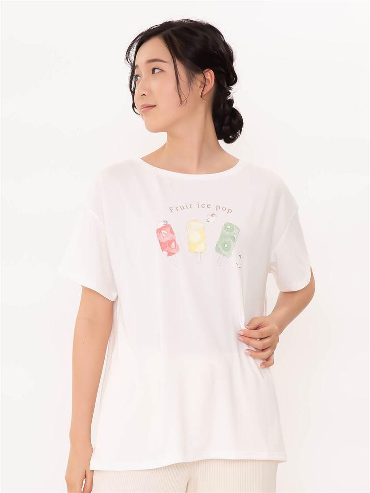 ベア天アイスキャンディープリントTシャツ