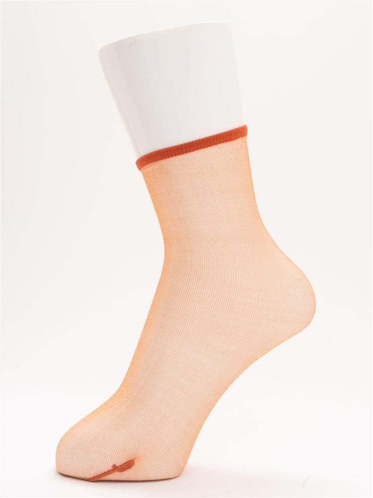 [レディライン]オールスルーソックス12cm丈
