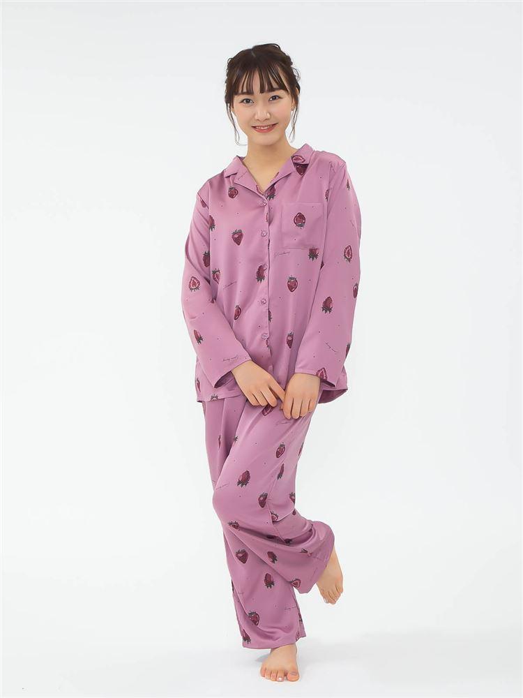 いちご柄サテンパジャマ