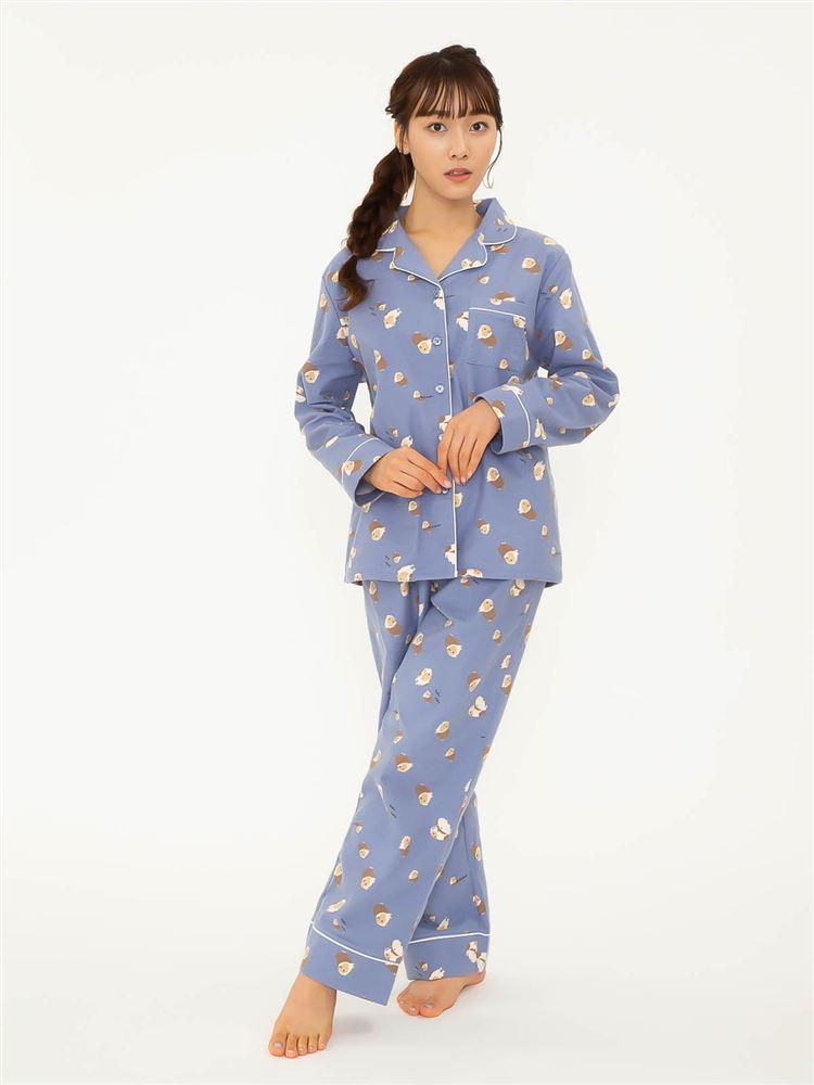 綿フランネルとことこアニマル柄パジャマ