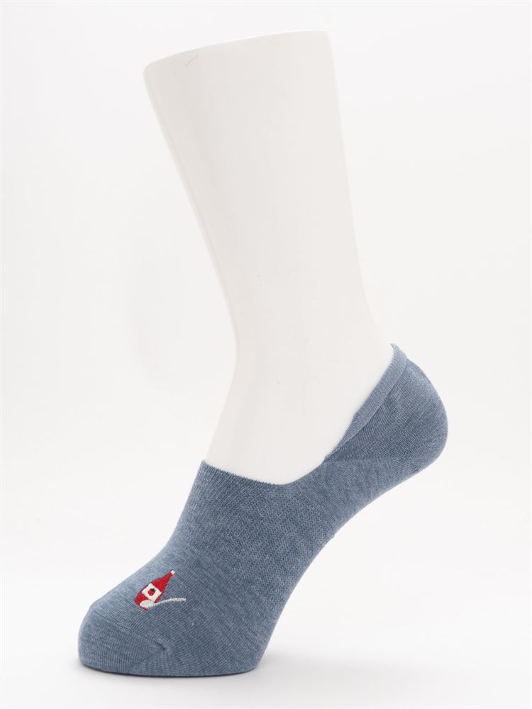 [ストレス0靴下]オムレツとダック超深履きカバーソックス