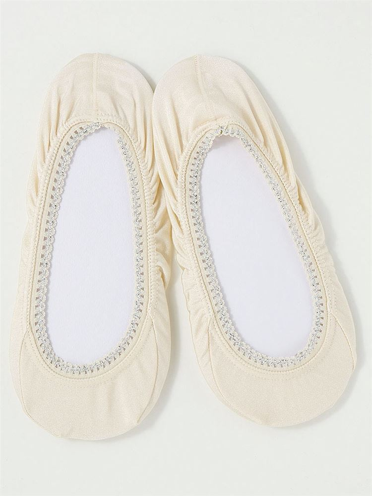 ラメピコ低反発クッション付き浅履きカバーソックス