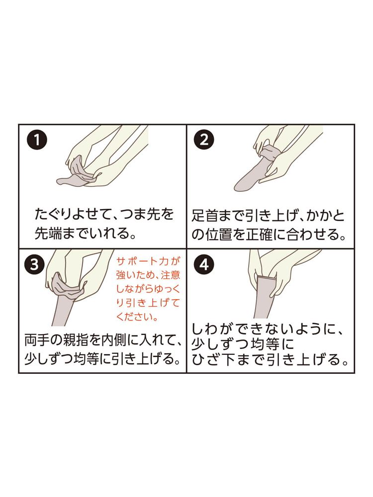 [健康と美キュキュすらっと]脚シェイプハイソックス【抗菌防臭・DRY】