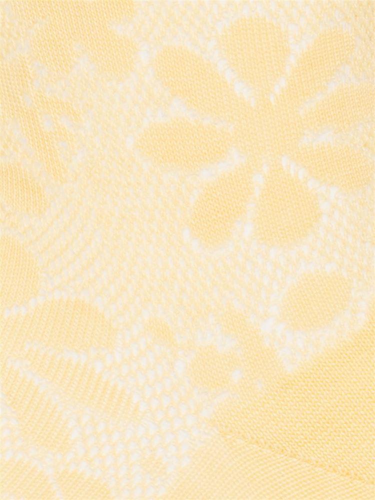 シルケット花柄スパイラルソックス13cm丈