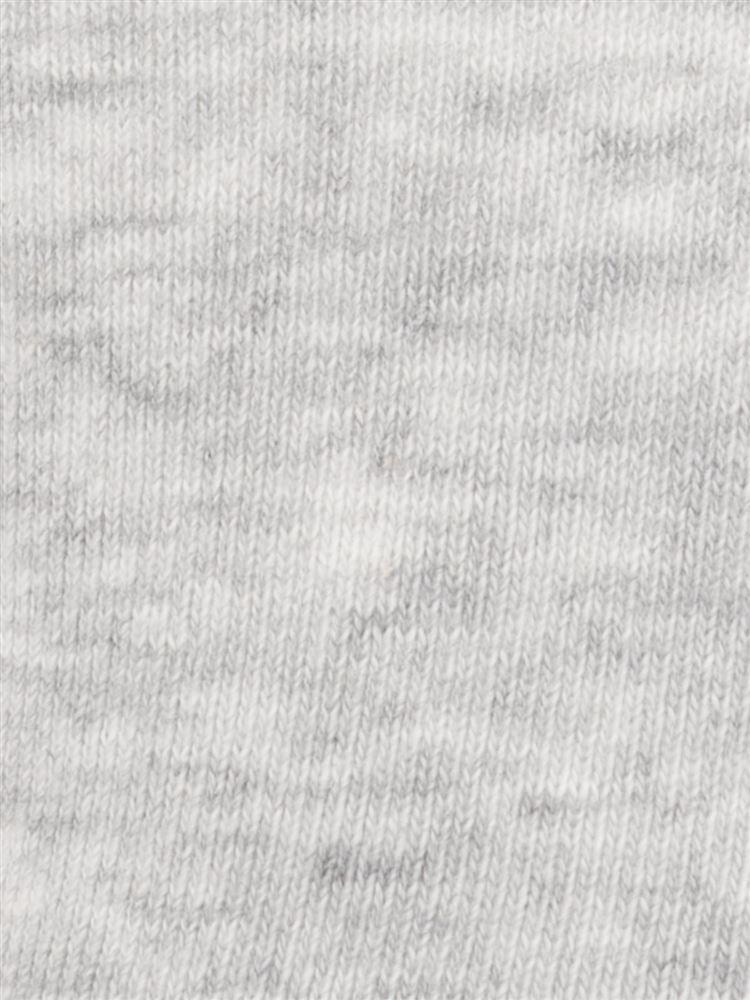 綿混ハイゲージ足底パイル口ゴムゆったり無地ソックス