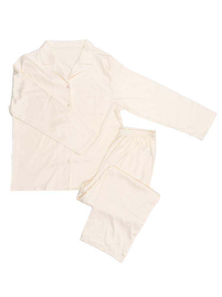 ハート柄サテンパジャマ
