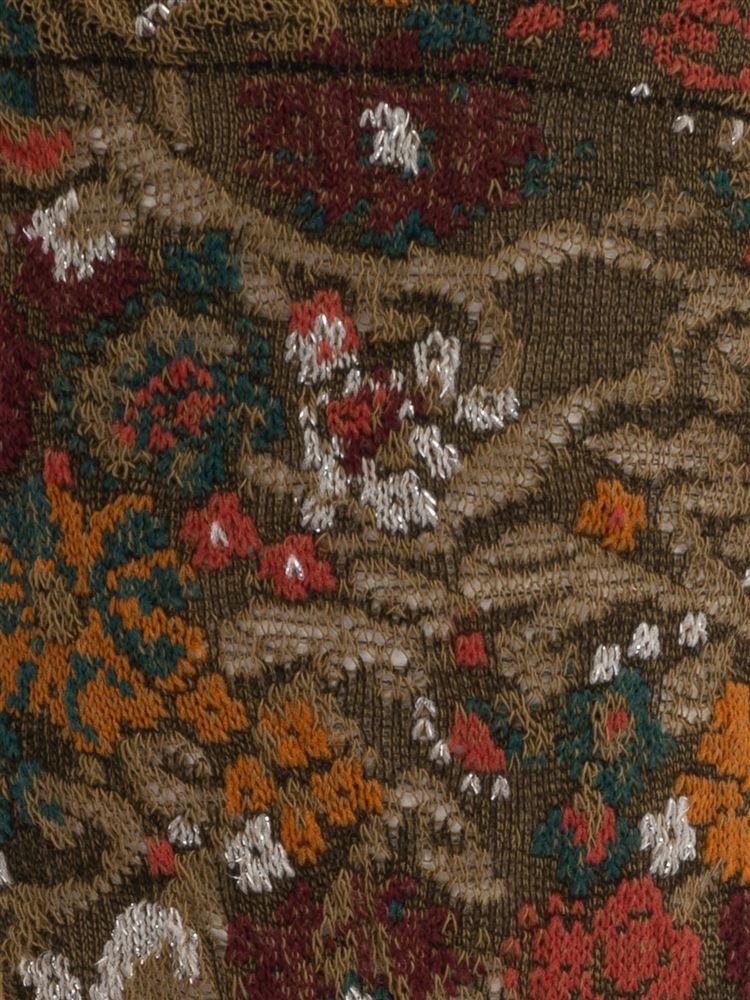 [レディライン]新疆綿フロート小花柄ソックス17cm丈