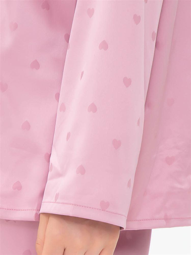 \橋下美好さん着用/ハートジャガード柄サテンパジャマ