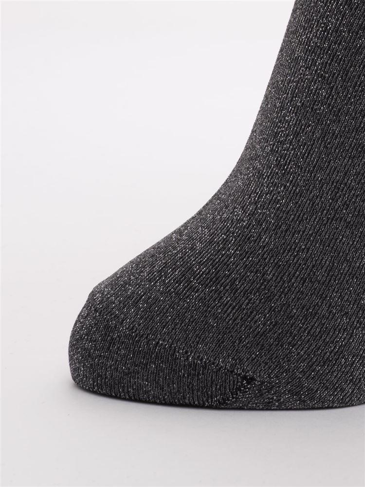 [レディライン]幅広口ゴムラメソックス16cm丈