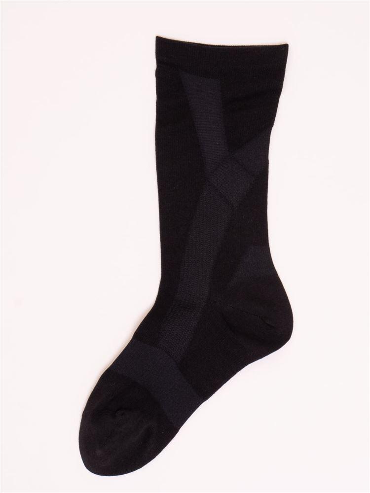 [健康と美キュキュすらっと]メンズ脚サポートソックス【綿タイプ】