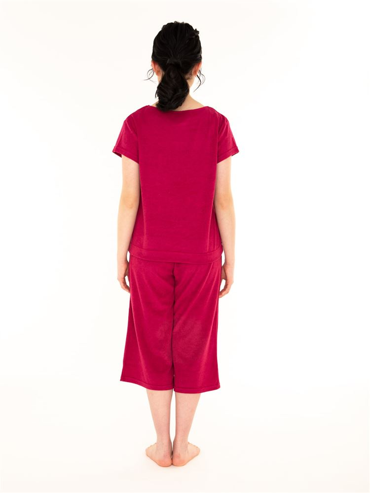 ねこ刺繍パイル半袖パジャマ