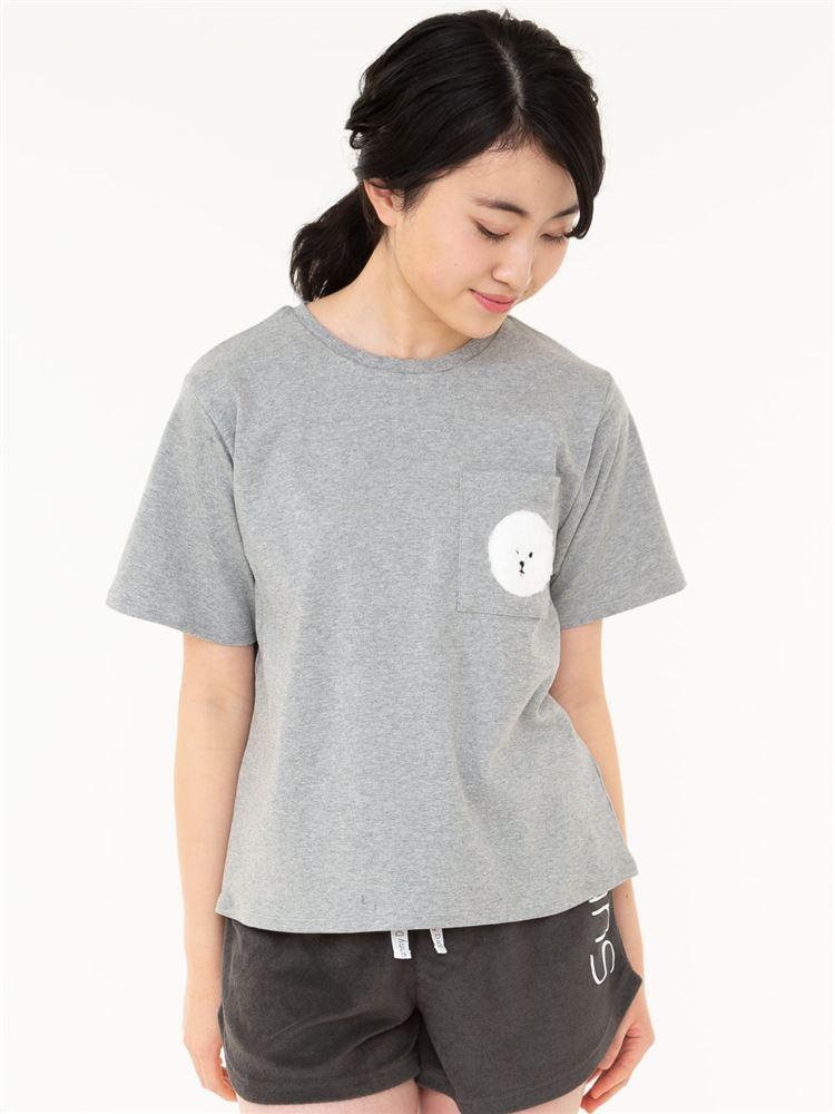 ビションフリーゼもこもこ刺繍スムースTシャツ