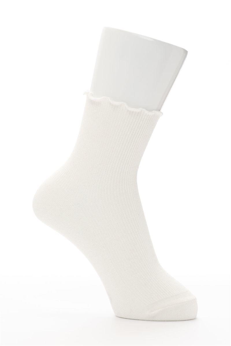 綿混ラメメローリブソックス14cm丈