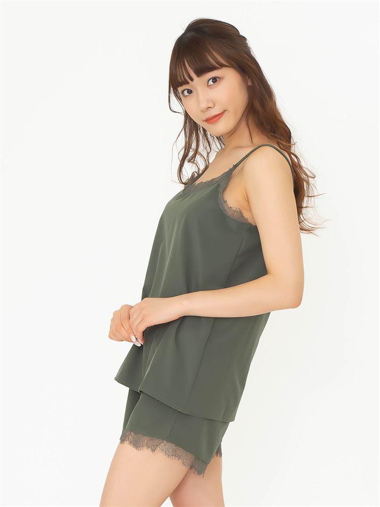 サテンキャミソールパジャマ(巾着付き)