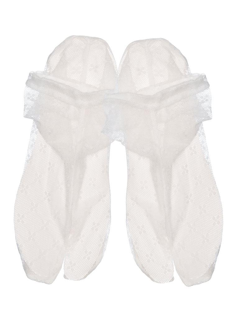 チュール小紋花柄足袋ソックス13cm丈