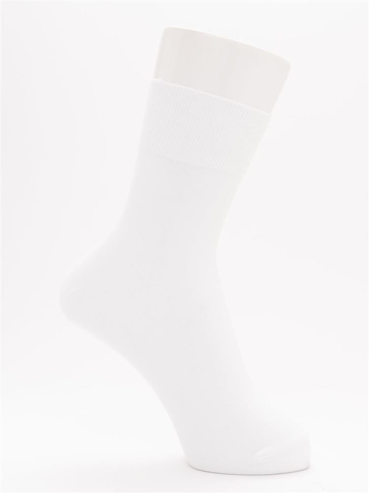 [レディライン]幅広口ゴム平無地ソックス15cm丈
