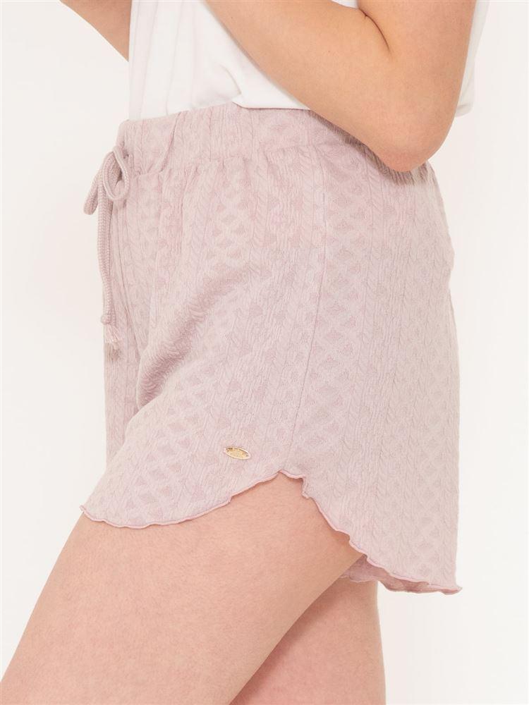 裾メロージャガード1分丈パンツ