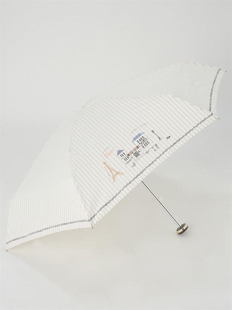 パリ柄折りたたみ傘