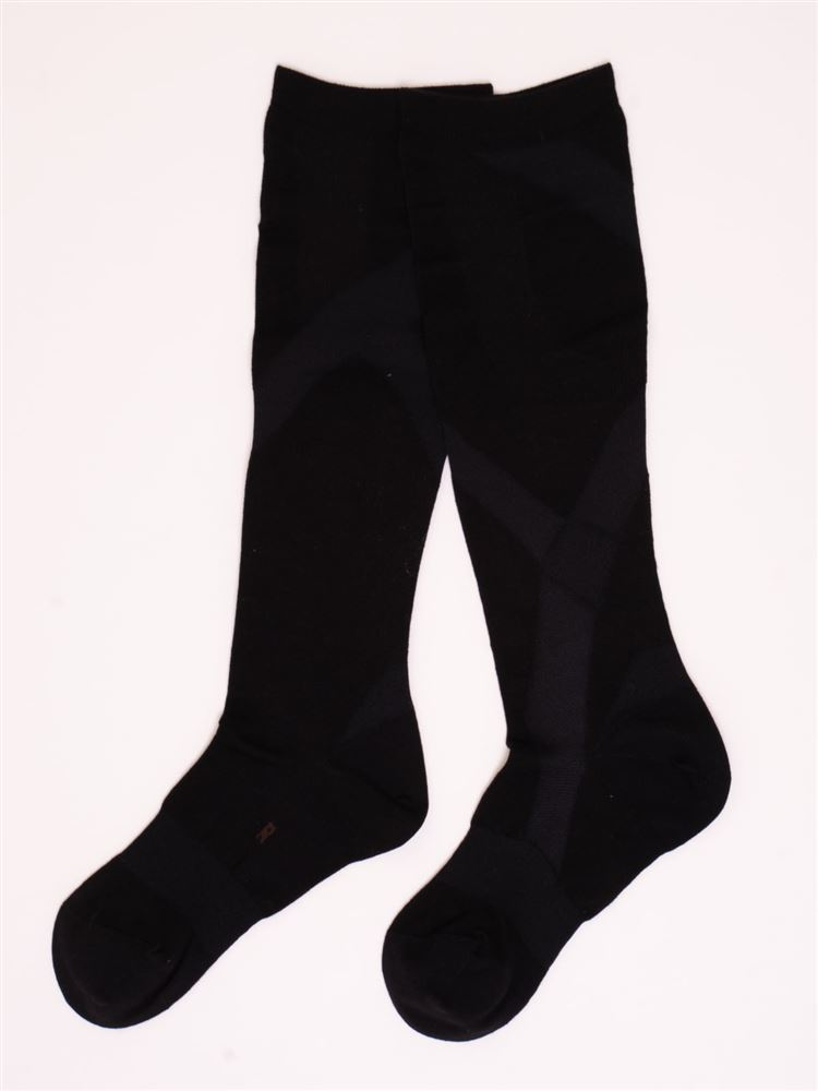 [健康と美キュキュすらっと]脚シェイプハイソックス【綿タイプ】