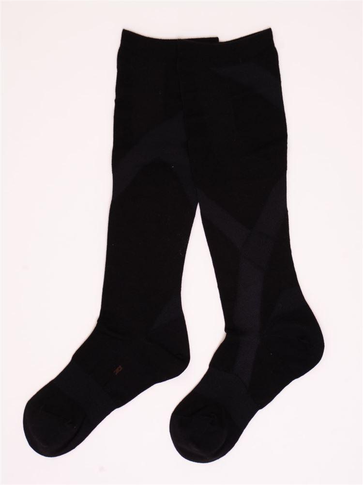 [健康と美キュキュすらっと]メンズ脚サポートハイソックス【抗菌防臭・DRY】