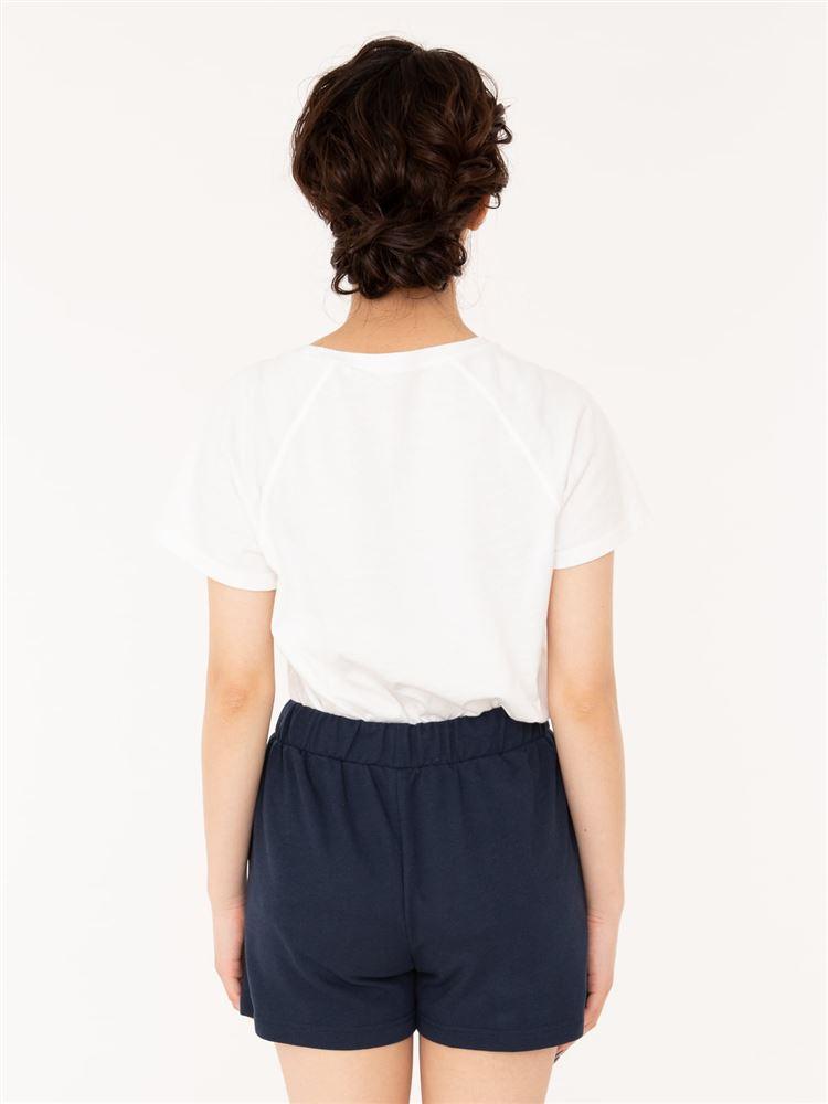 ワンポイント刺繍裏毛1分丈パンツ