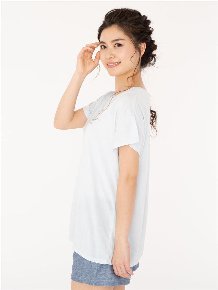 猫ドロップショルダーTシャツ