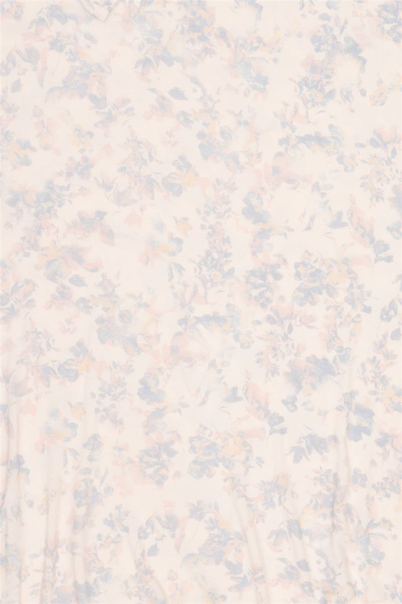 レーヨンベア天花柄マキシ丈ワンピース