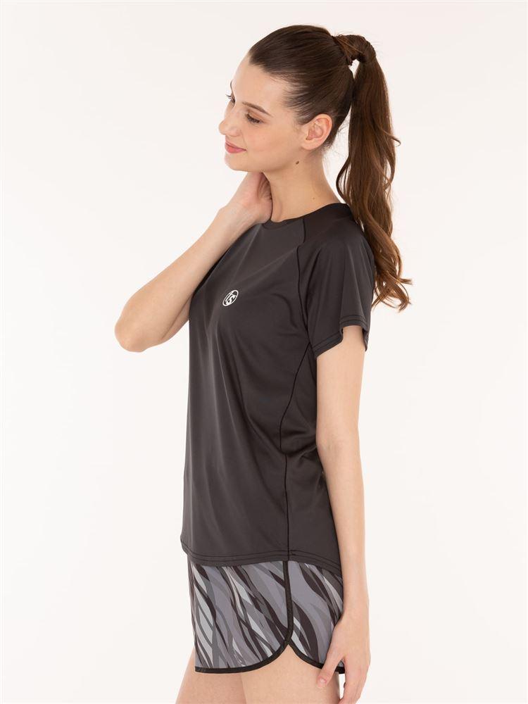 [スポーツ]無地ロゴラグランTシャツ