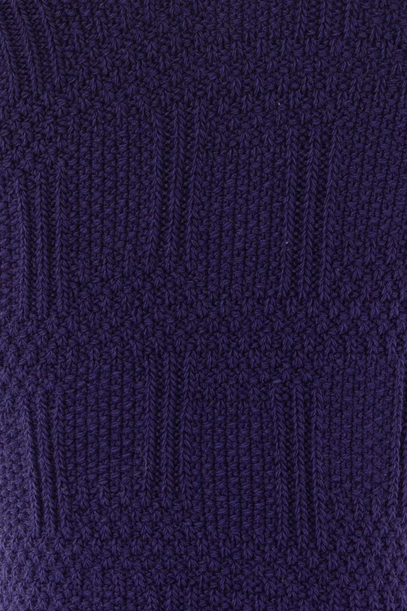 鹿の子編みラインくるぶしソックス