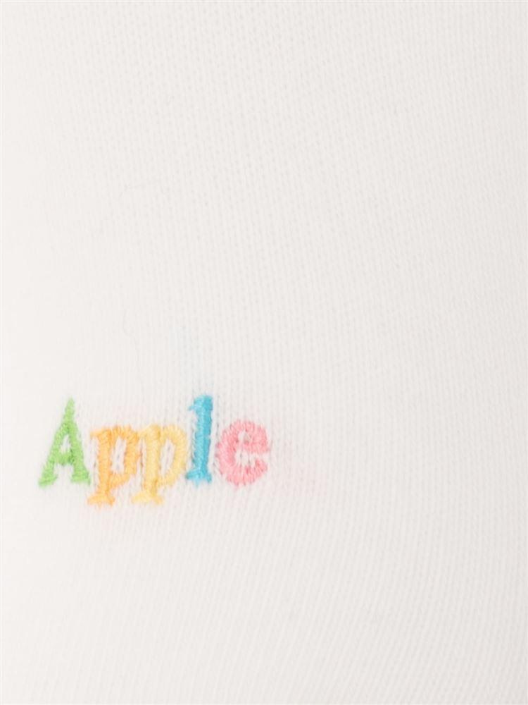 カラフルApple刺繍綿混ローカットくるぶしソックス