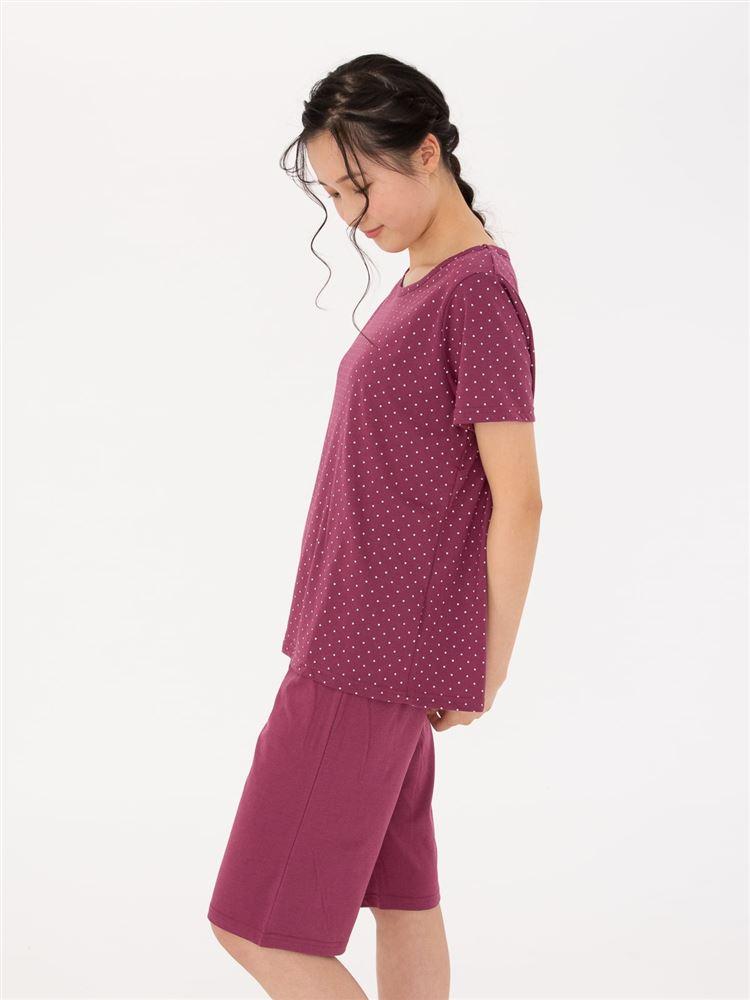 天竺仁丹ドット柄半袖パジャマ