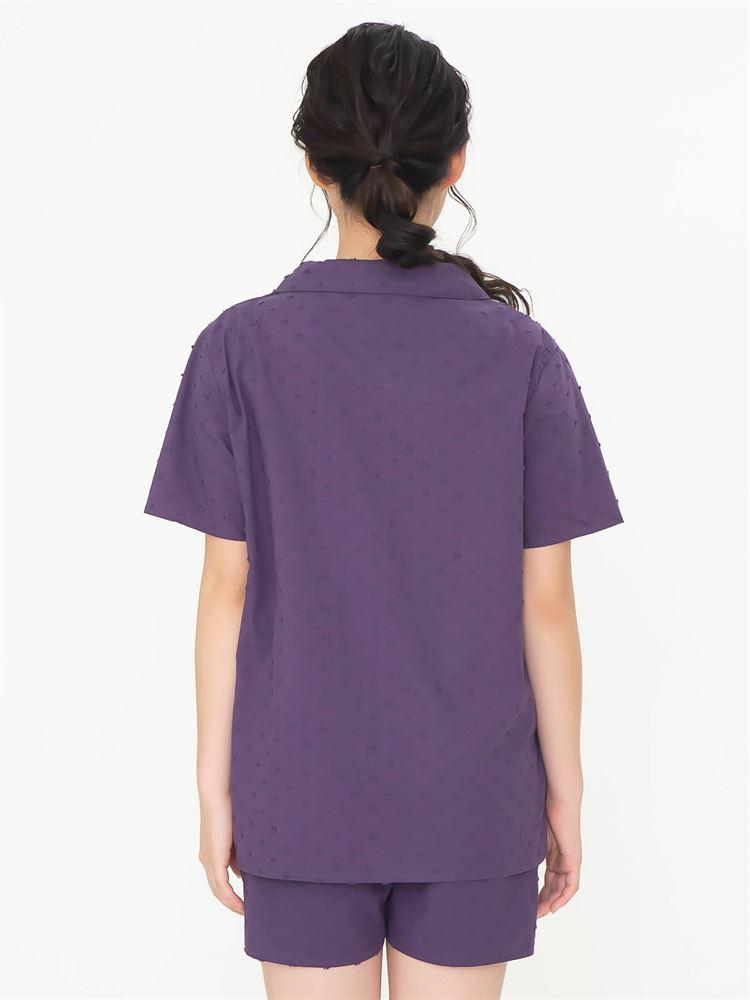 綿100%カットドビーパジャマ(半袖×1分丈パンツ)