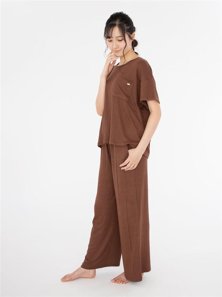 リブ半袖パジャマ