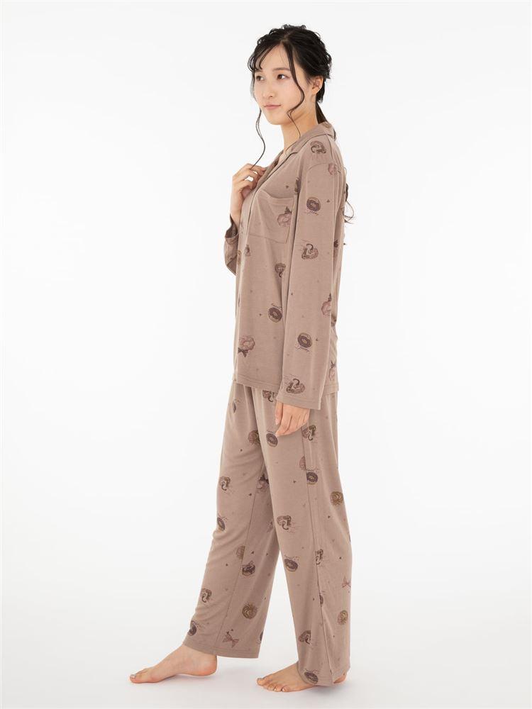 ドーナツ柄スムースパジャマ