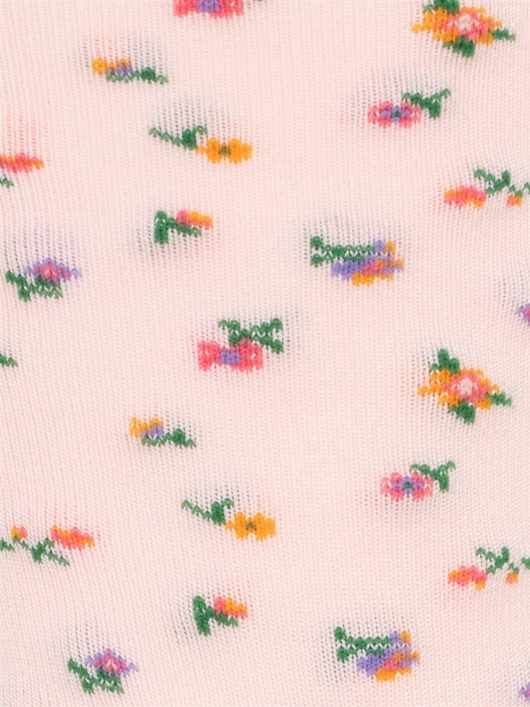 ハイクール小花柄ソックス16cm丈