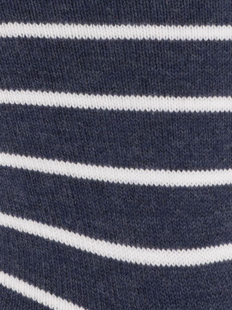 [メンズ]ボーダーソックス16cm丈