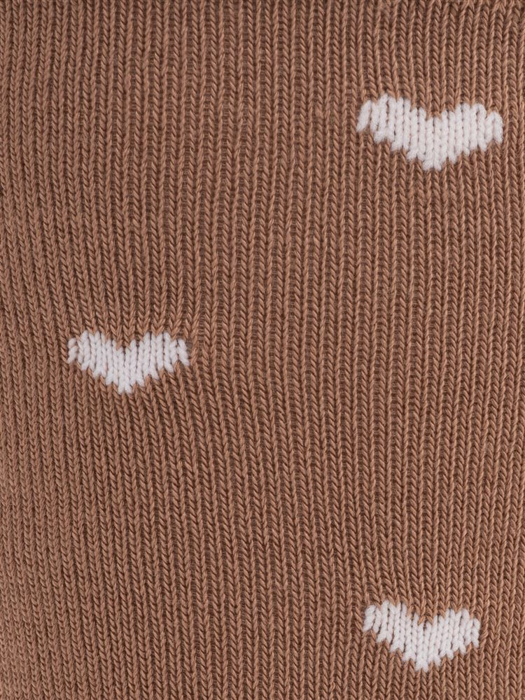[ちょうどいい靴下]ハート総柄温調ソックス16cm丈