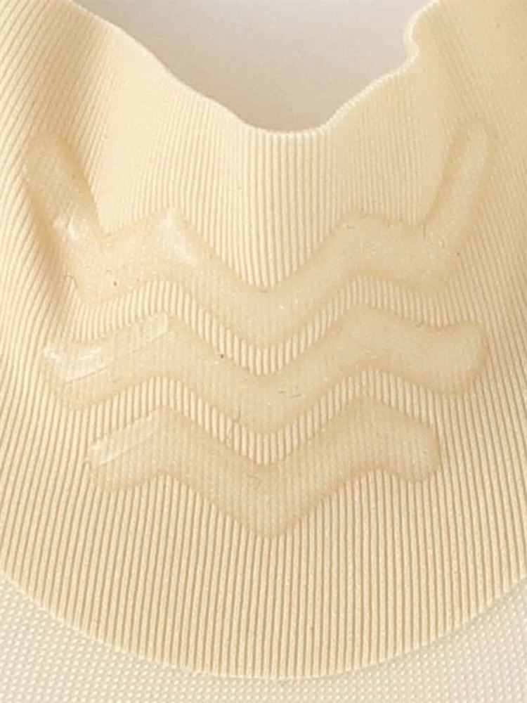立体縫製足底綿ぐるっと滑り止め付き無地浅カバーソックス