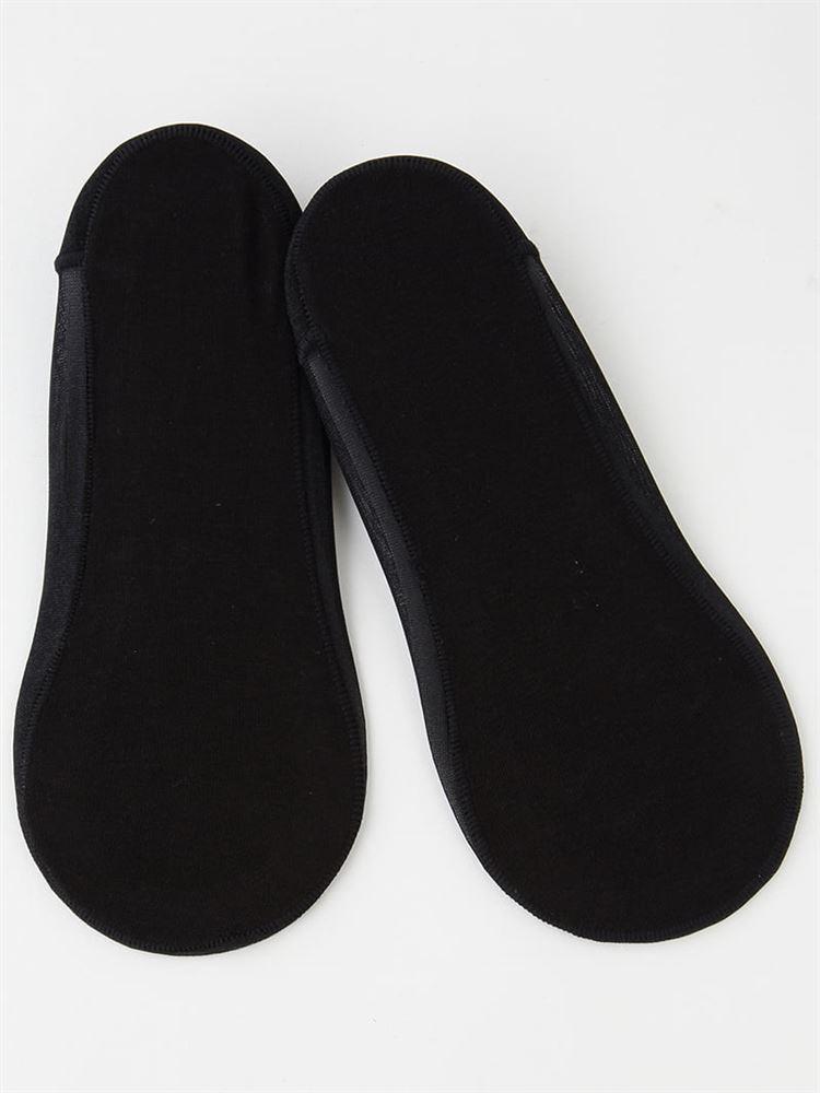 足底綿滑り止め付きラメ浅カバーソックス