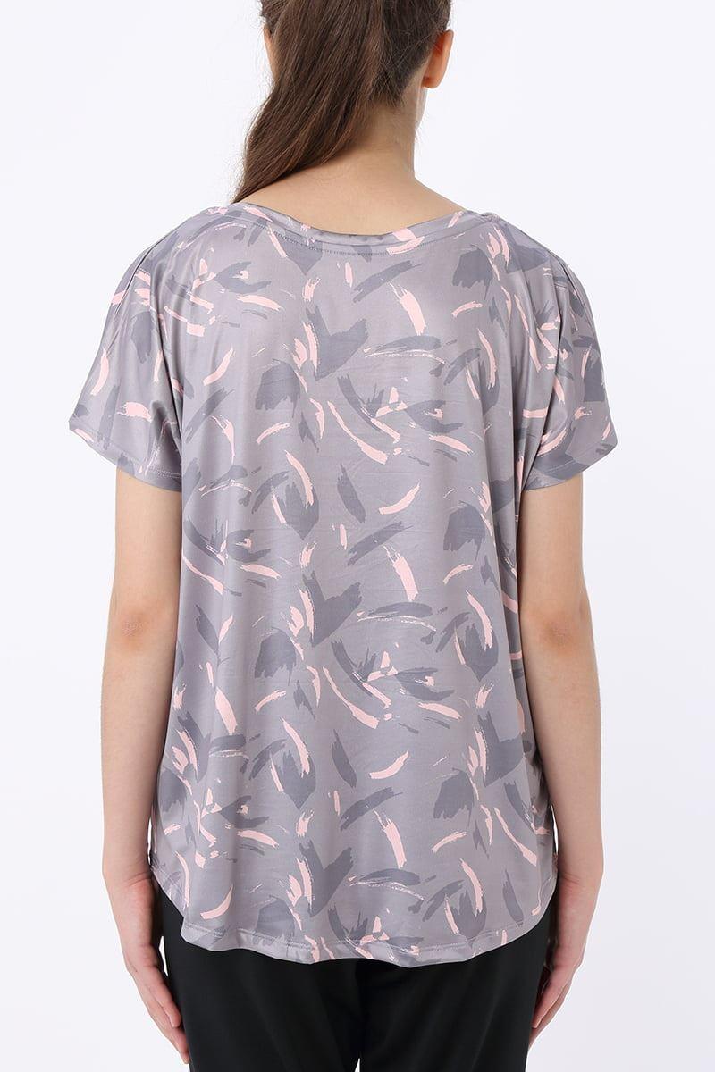 総柄ドルマンTシャツ
