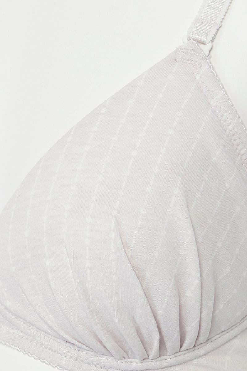 [tutuプチ]STEP3・ジュニア用ノンワイヤー(グレーストライプ)