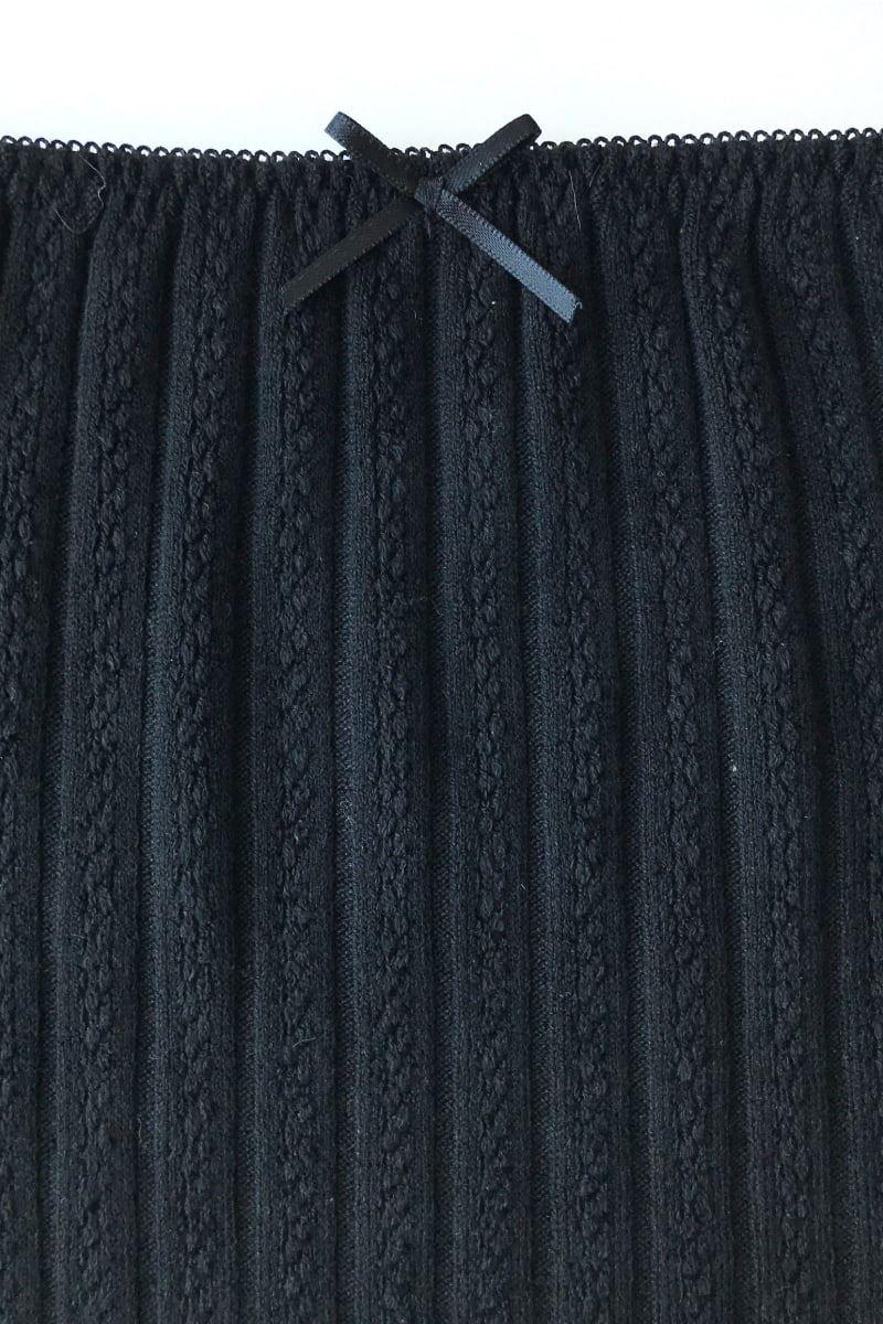 [薄手]ケーブル無地腹巻き