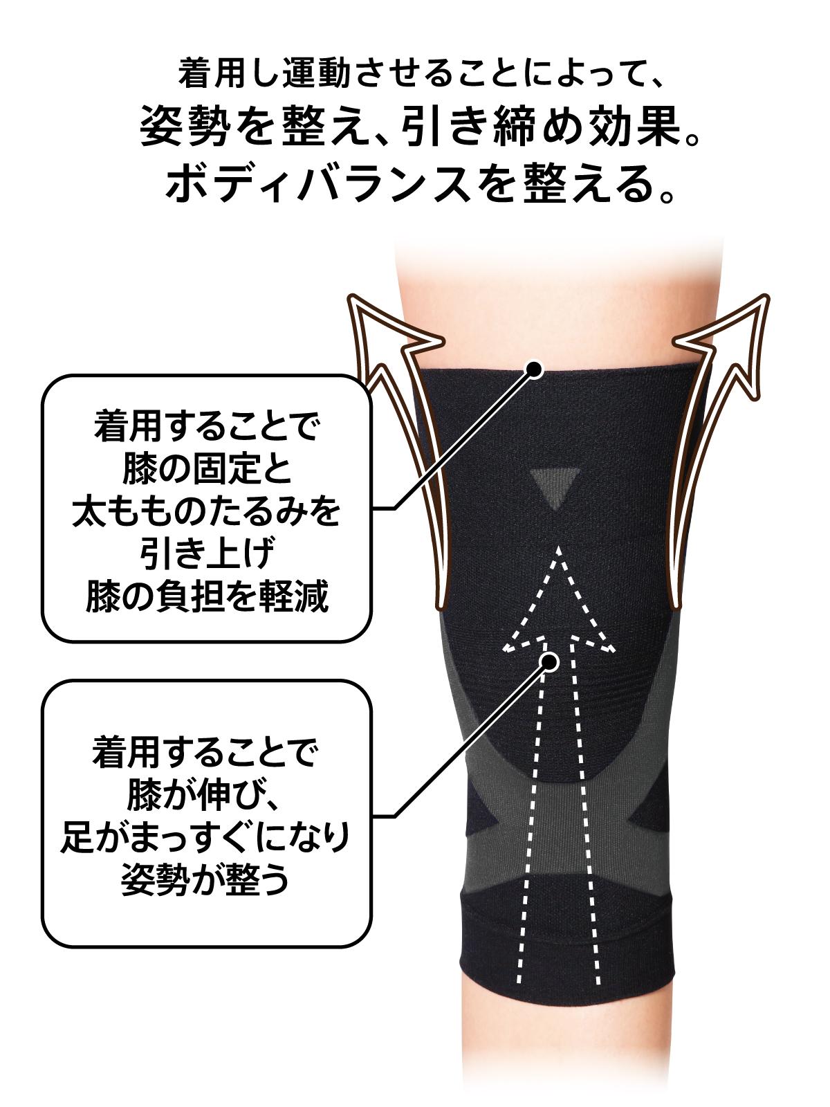 [健康と美研究所]膝アップサポーター(男女兼用)