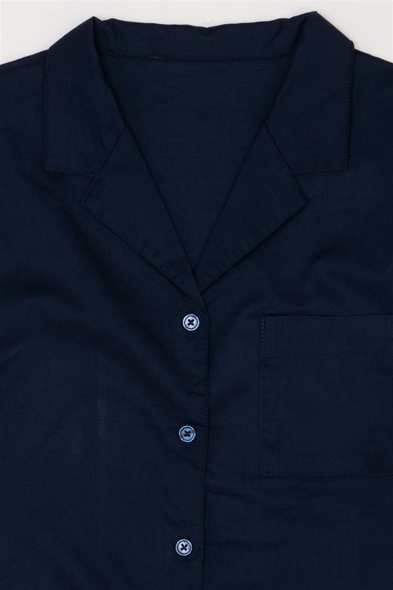 綿レーヨン布帛前開き半袖パジャマ