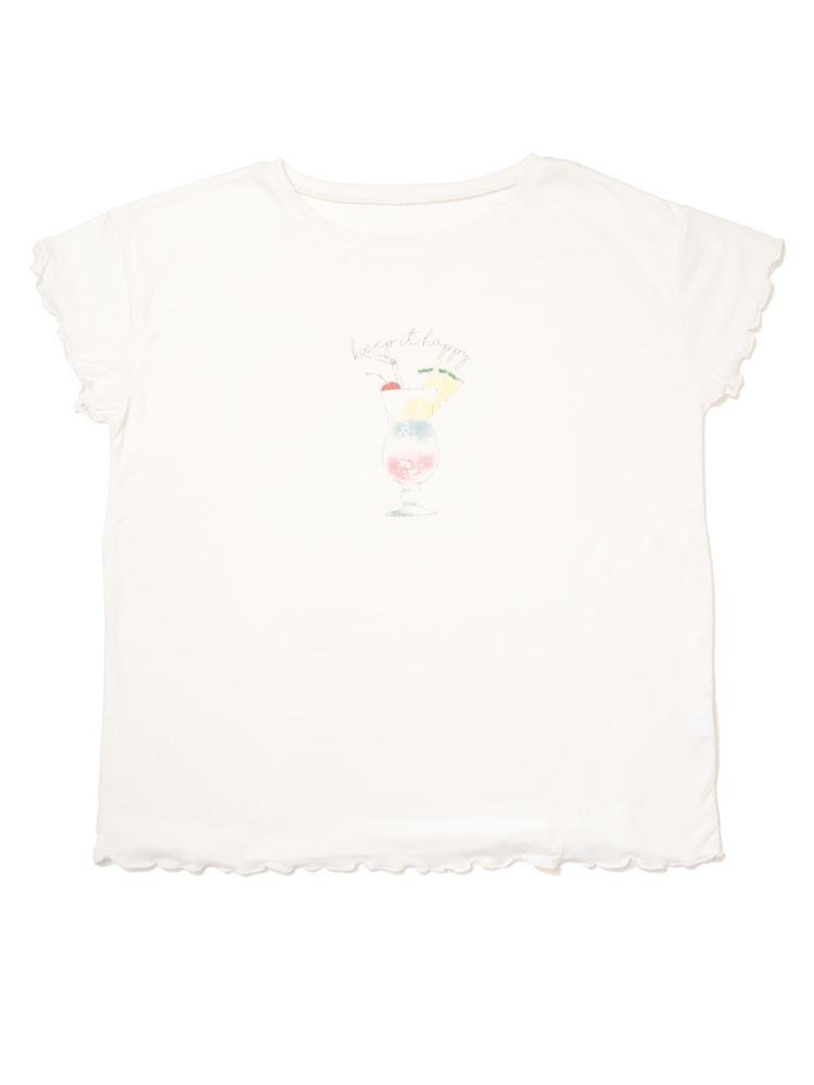 ソーダ柄メローフリルTシャツ