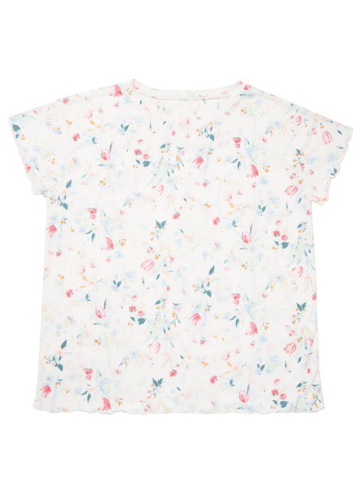 花柄メローフリルTシャツ