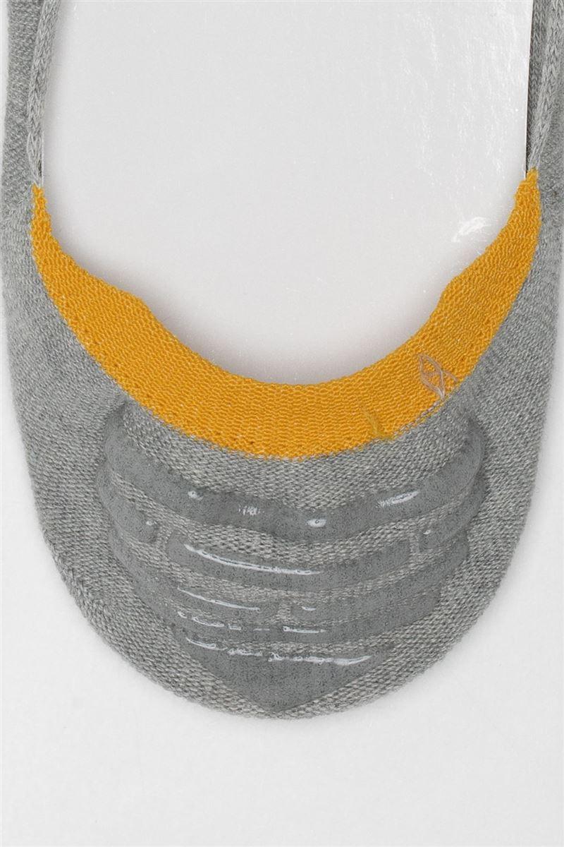 HAPPYおとこのこ刺繍メランジ深履きカバーソックス